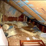 Attic damage