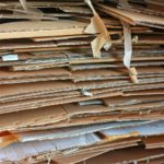 Stack of used cardboards
