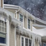 icicles hanging off house