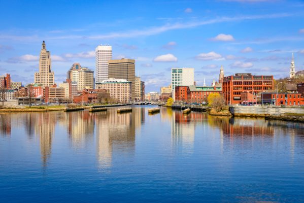 Providence Rhode Island water and skyline