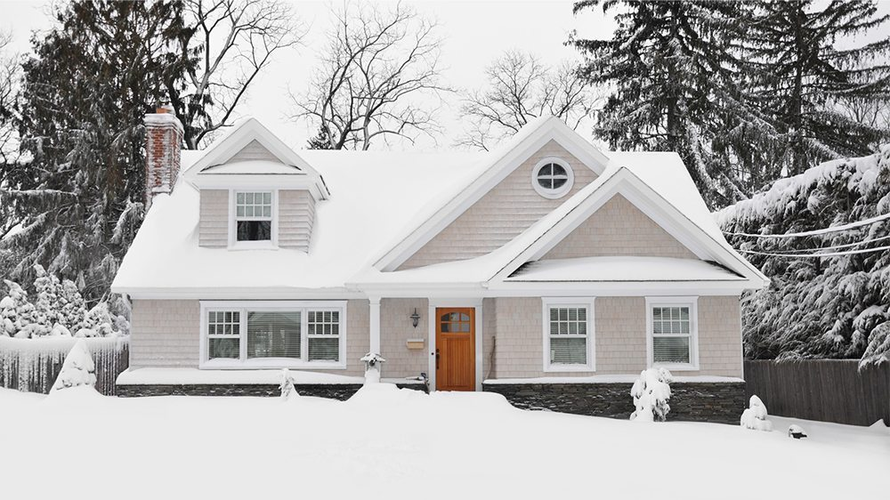 New England Home in Winter